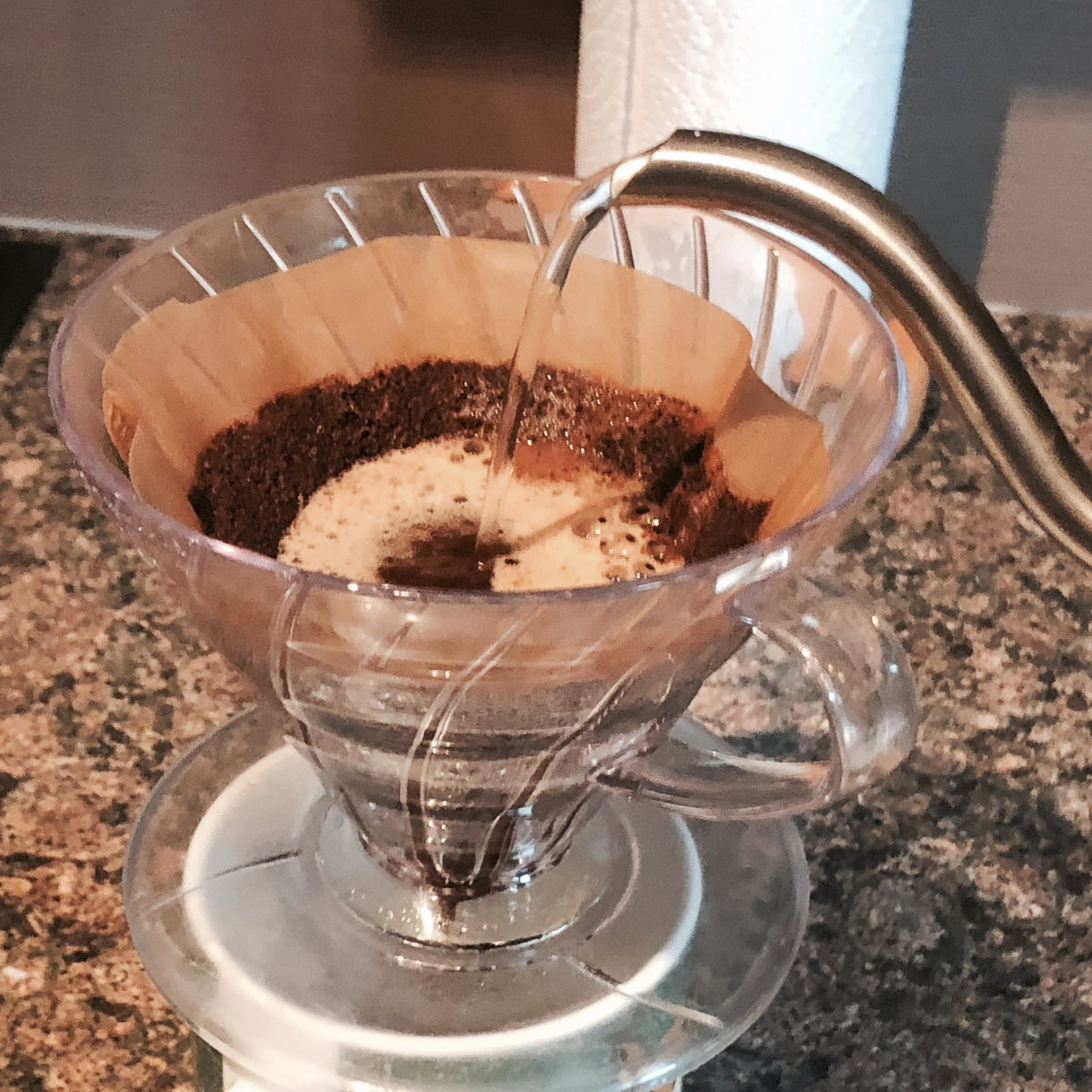 Brewing coffee with a V60