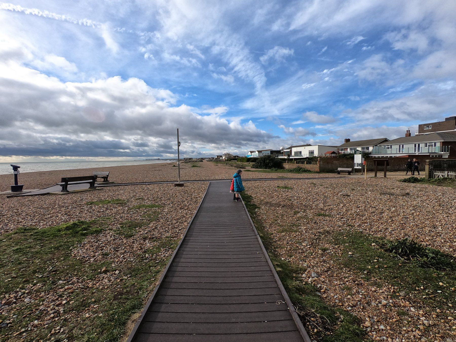 On the Shoreham Beach boardwalk.