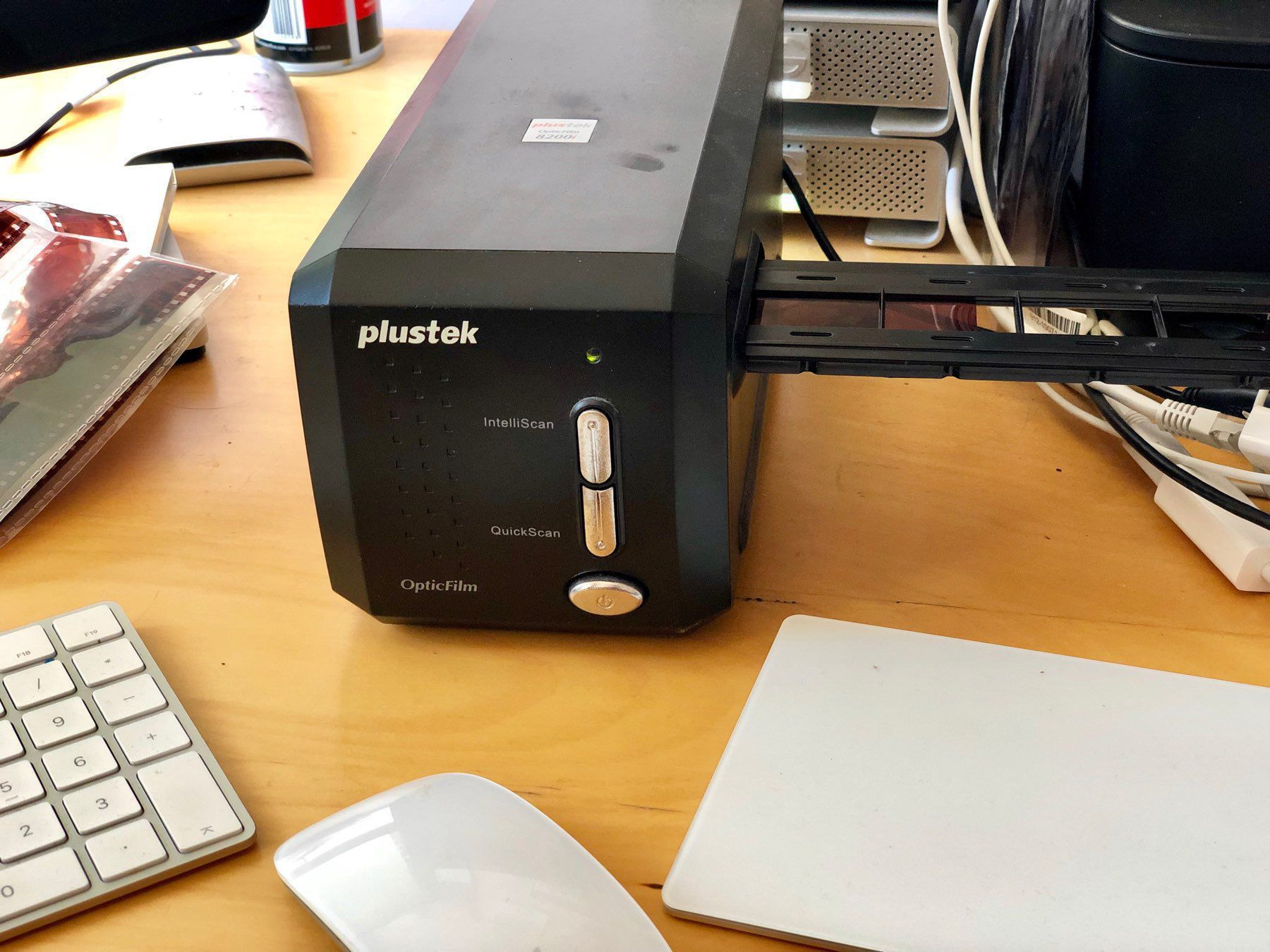 A Plustek OpticFilm scanner
