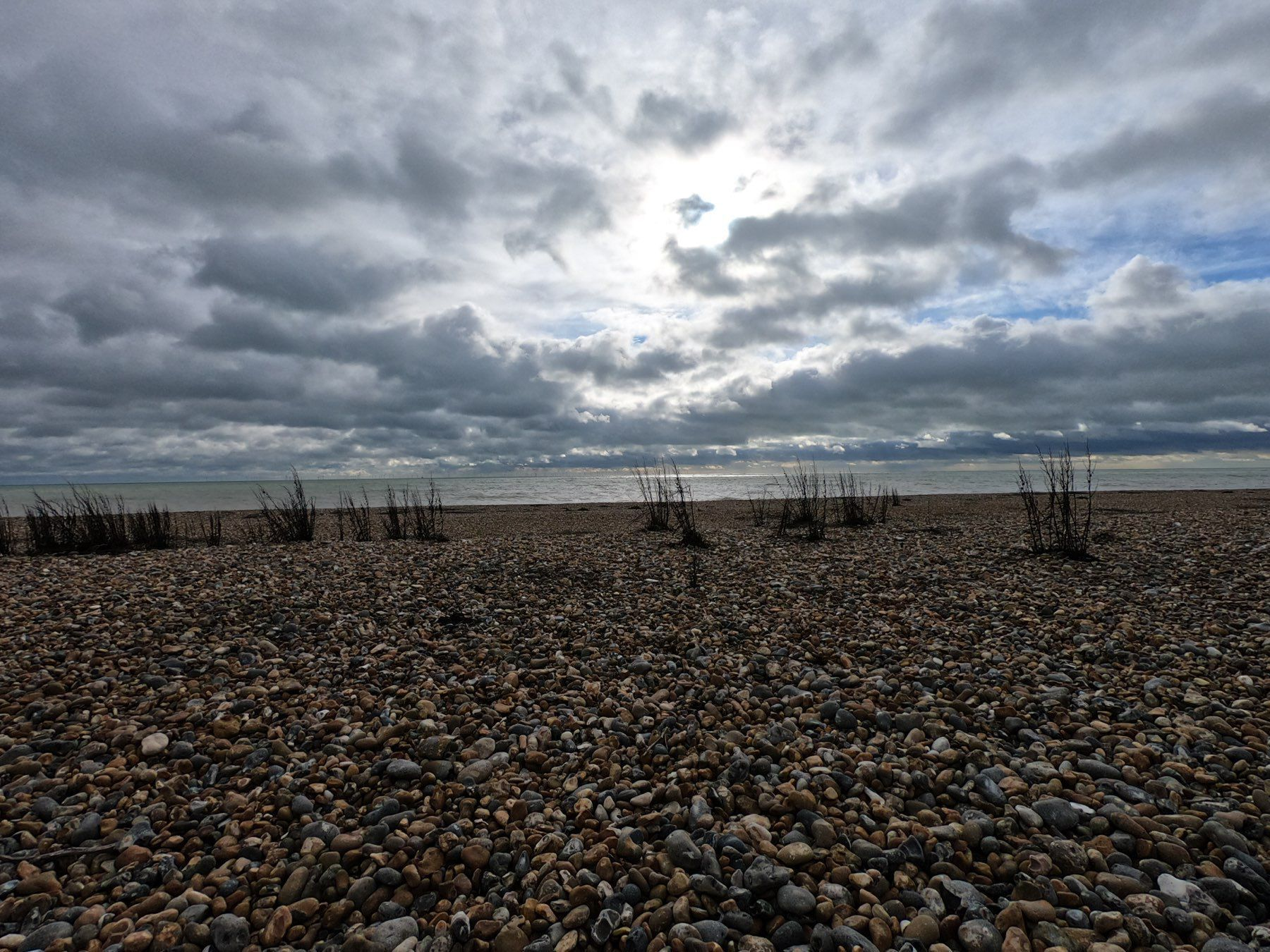 Stormy Shoreham Beach