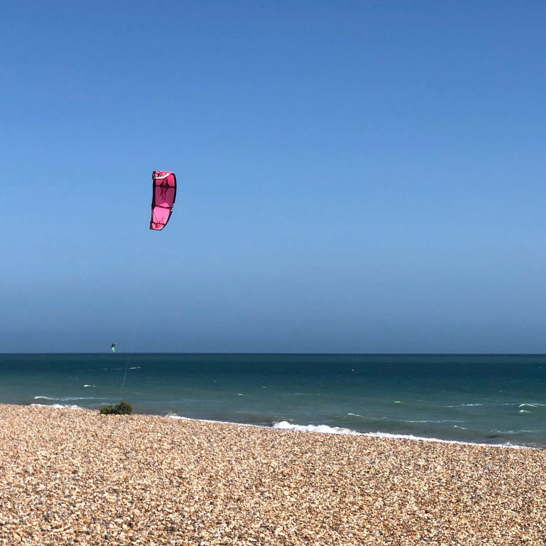 kite-surfer on Shoreham Beach