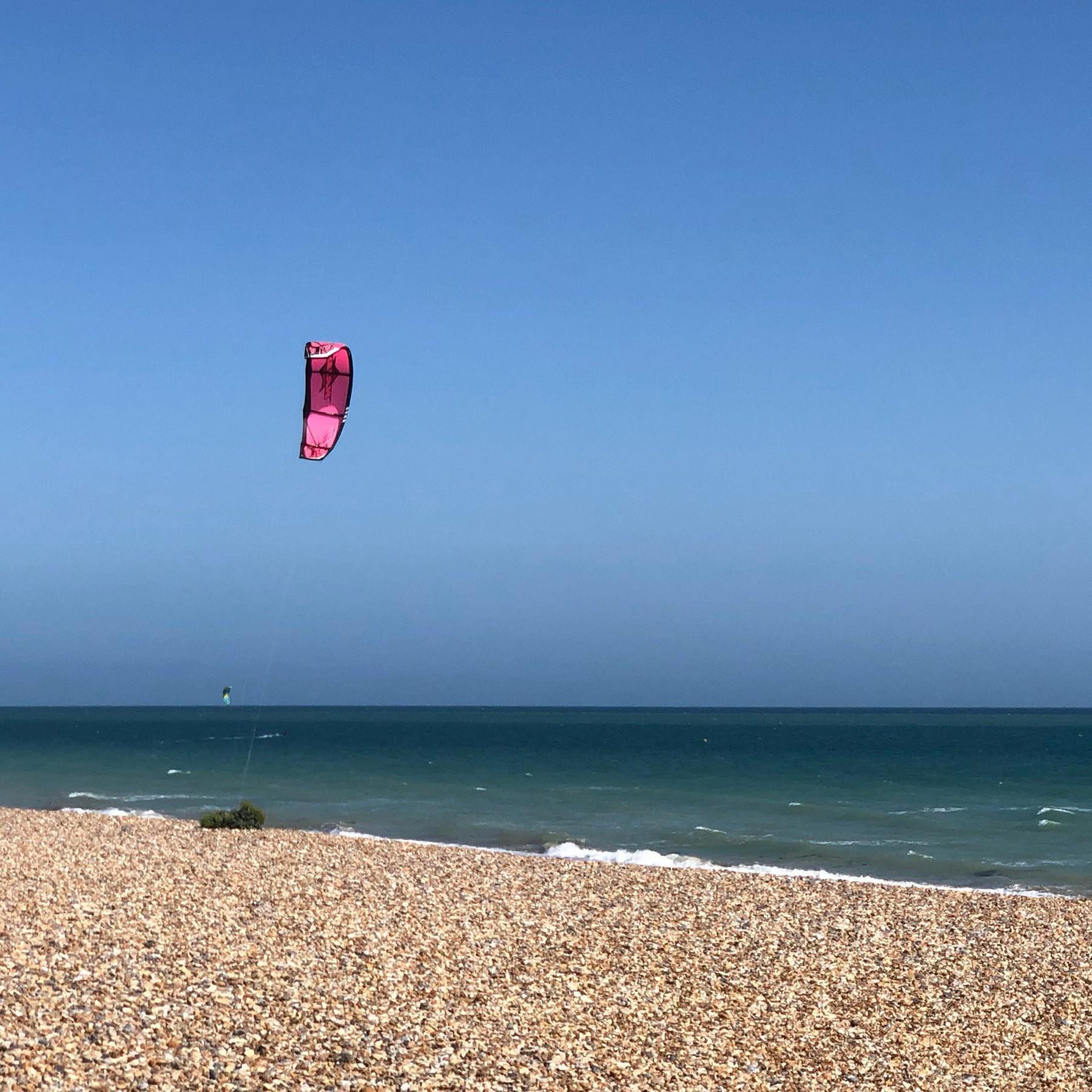 kite-surfer on Shoreham Beach