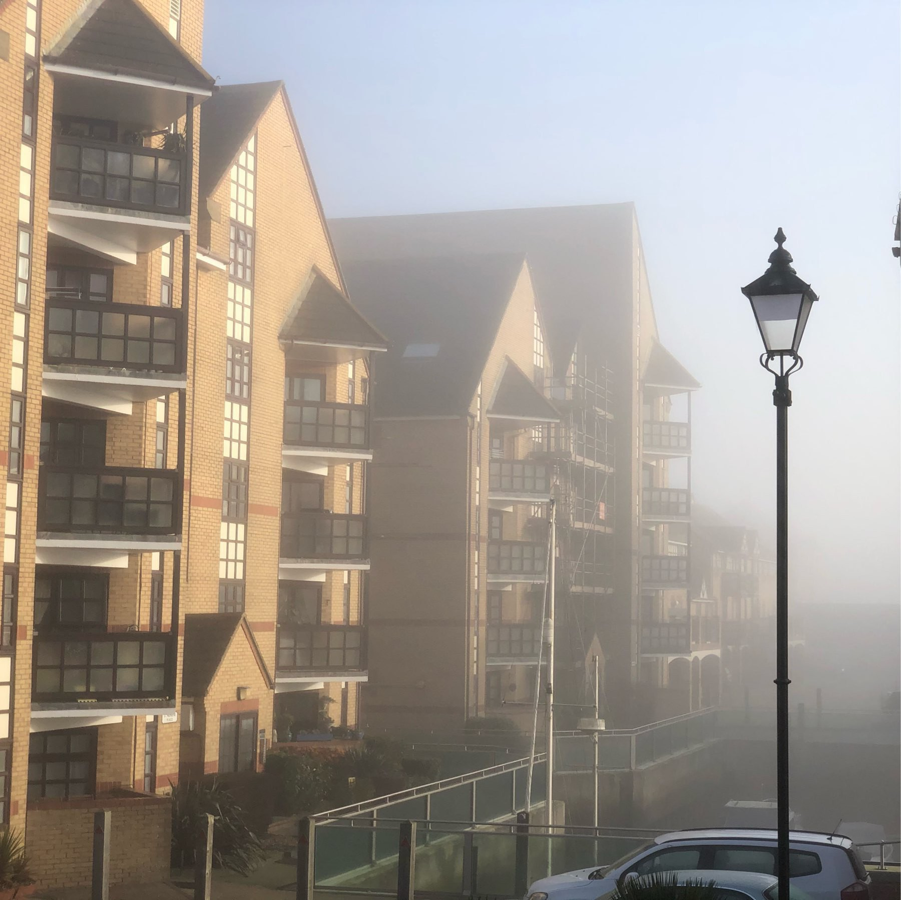 Fog over the Quay in Emerald Quay.