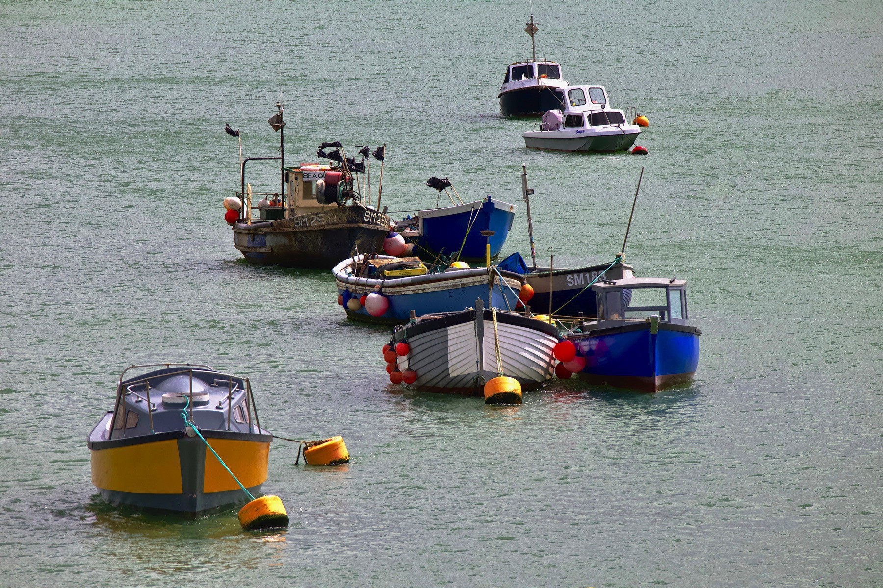 Boats moored in the River Adur between Shoreham-by-Sea and Shoreham Beach