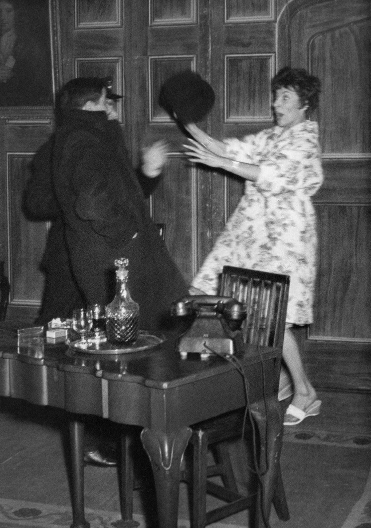 Ann Tinworth acting in an amateur dramatic production in the 1960s.