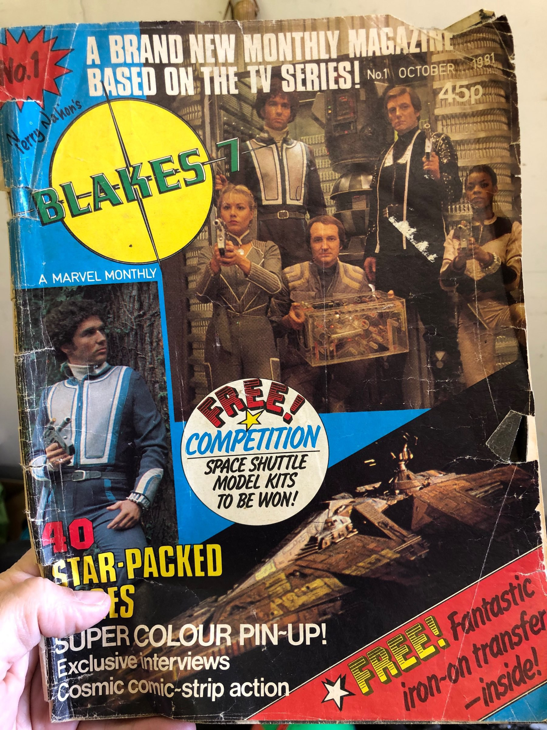 a cooy of Blake's 7 magazine issue 1.