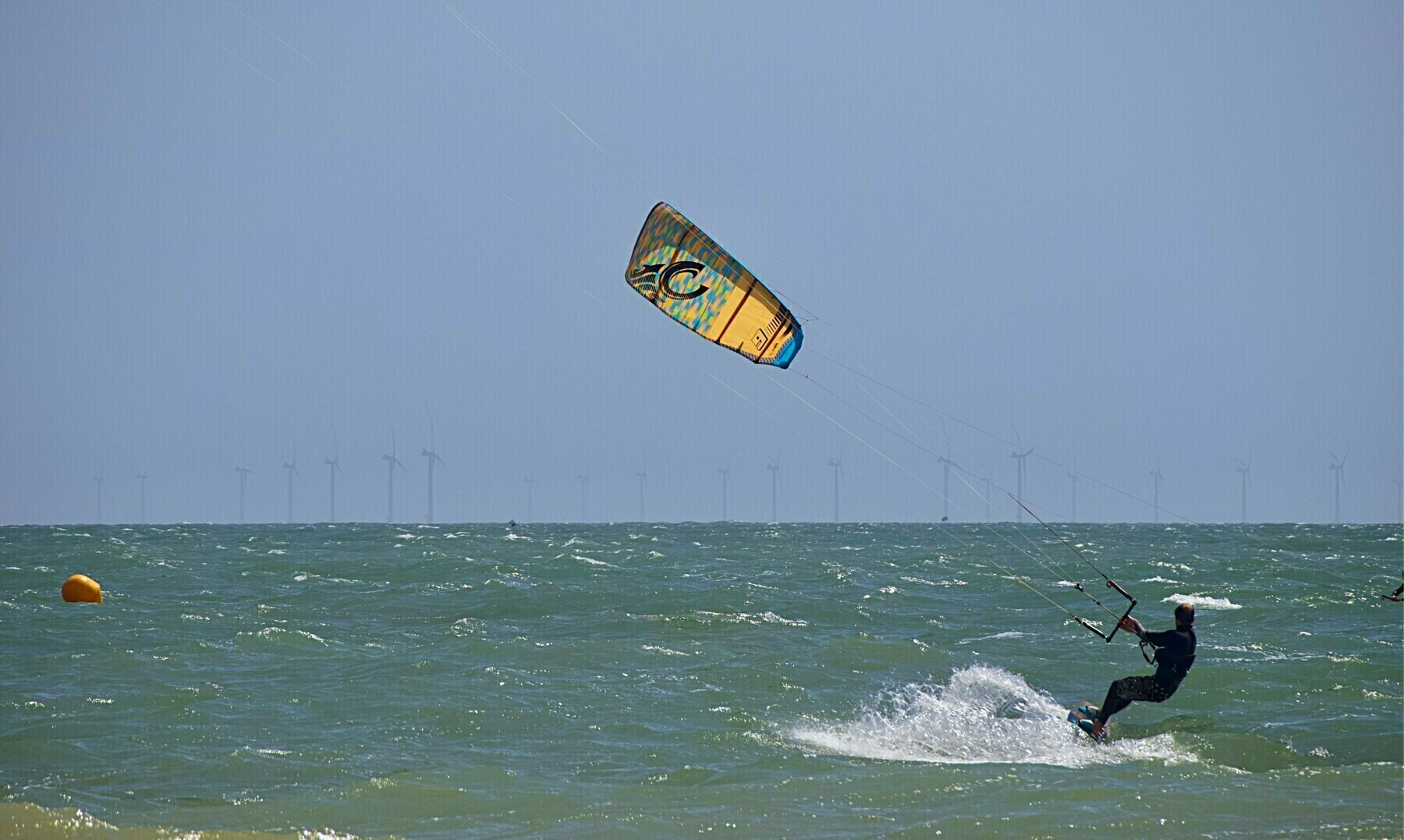 Kite surfers off Shoreham Beach