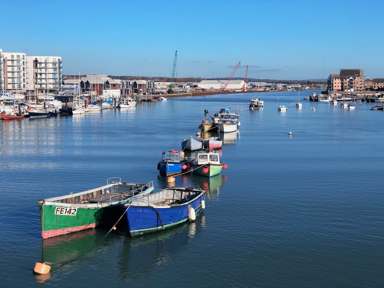 Boats on the river Adur.