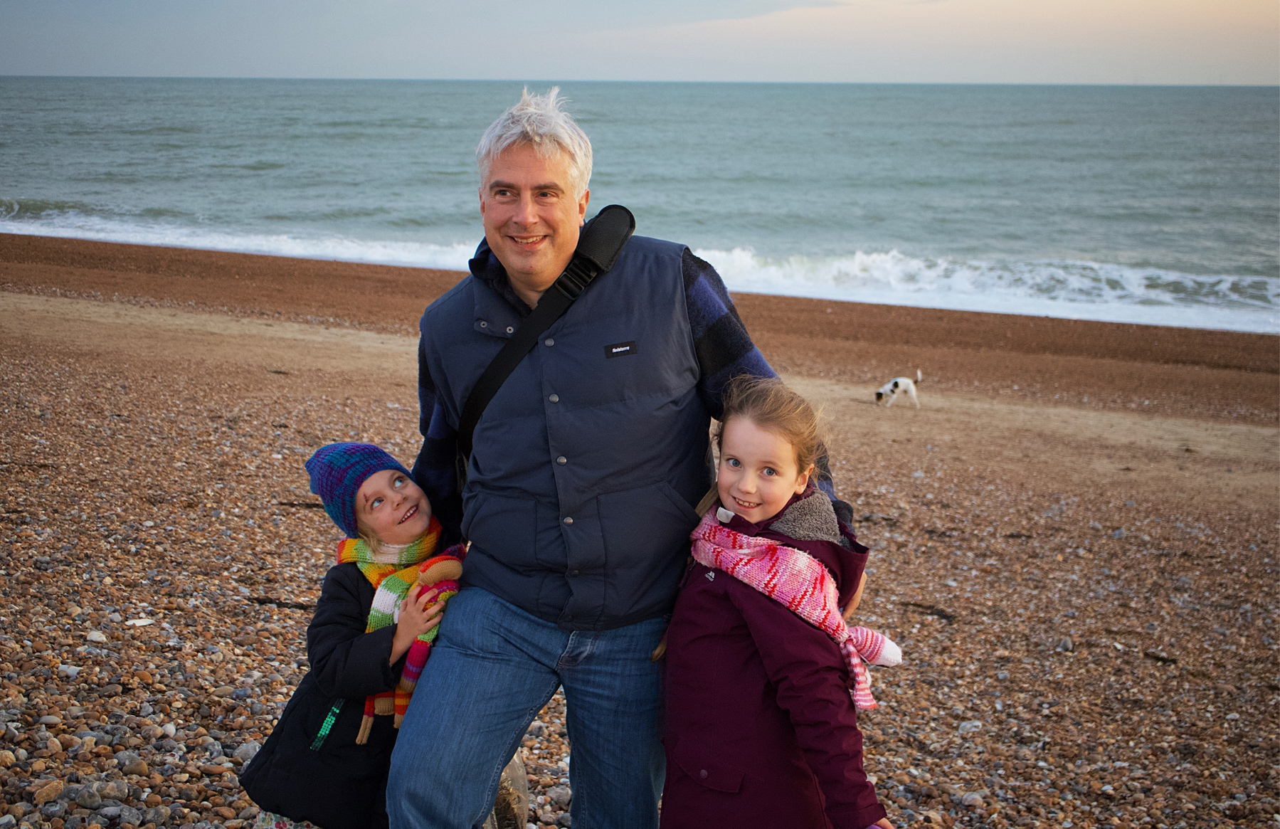 The Tinworth family on Shoreham Beach.