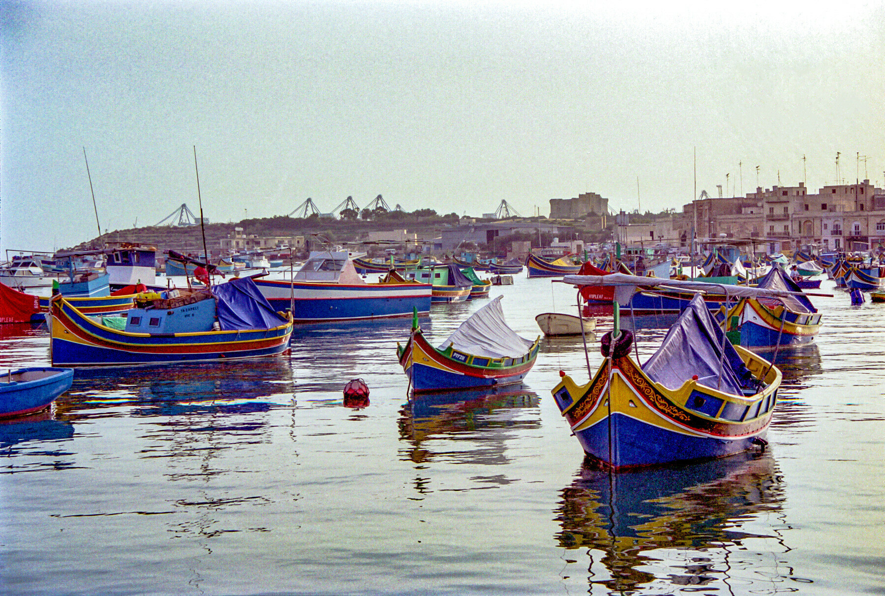 Colourful Maltese boats from autumn 2000.