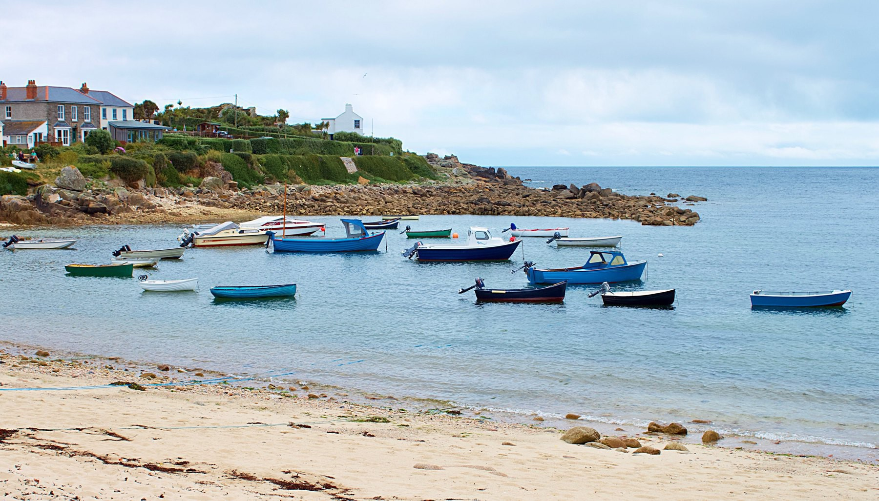A bay on one of the Isles of Scilly.