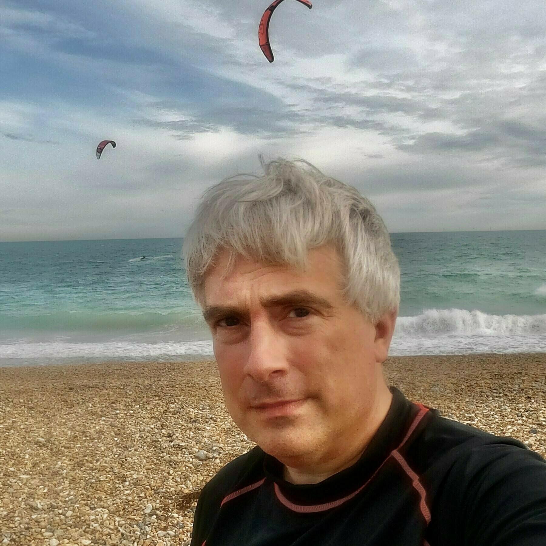 Adam Tinworth on Shoreham Beach