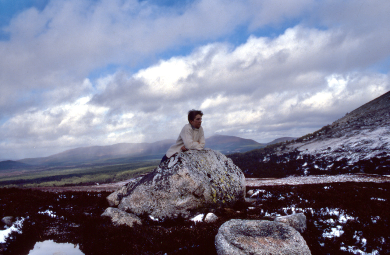 Adam Tinworth, age 17, in the Cairngorms.