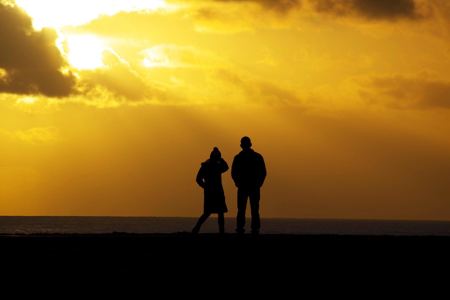 A couple on Shoreham Beach.