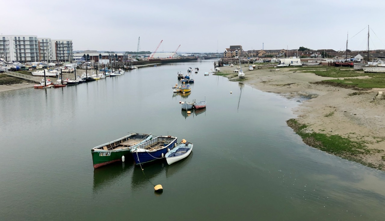 Fishing boats moored in the Adur
