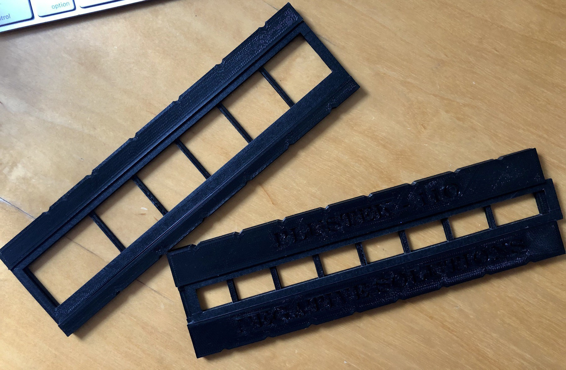 3d Printed neagtive adators for a scanner