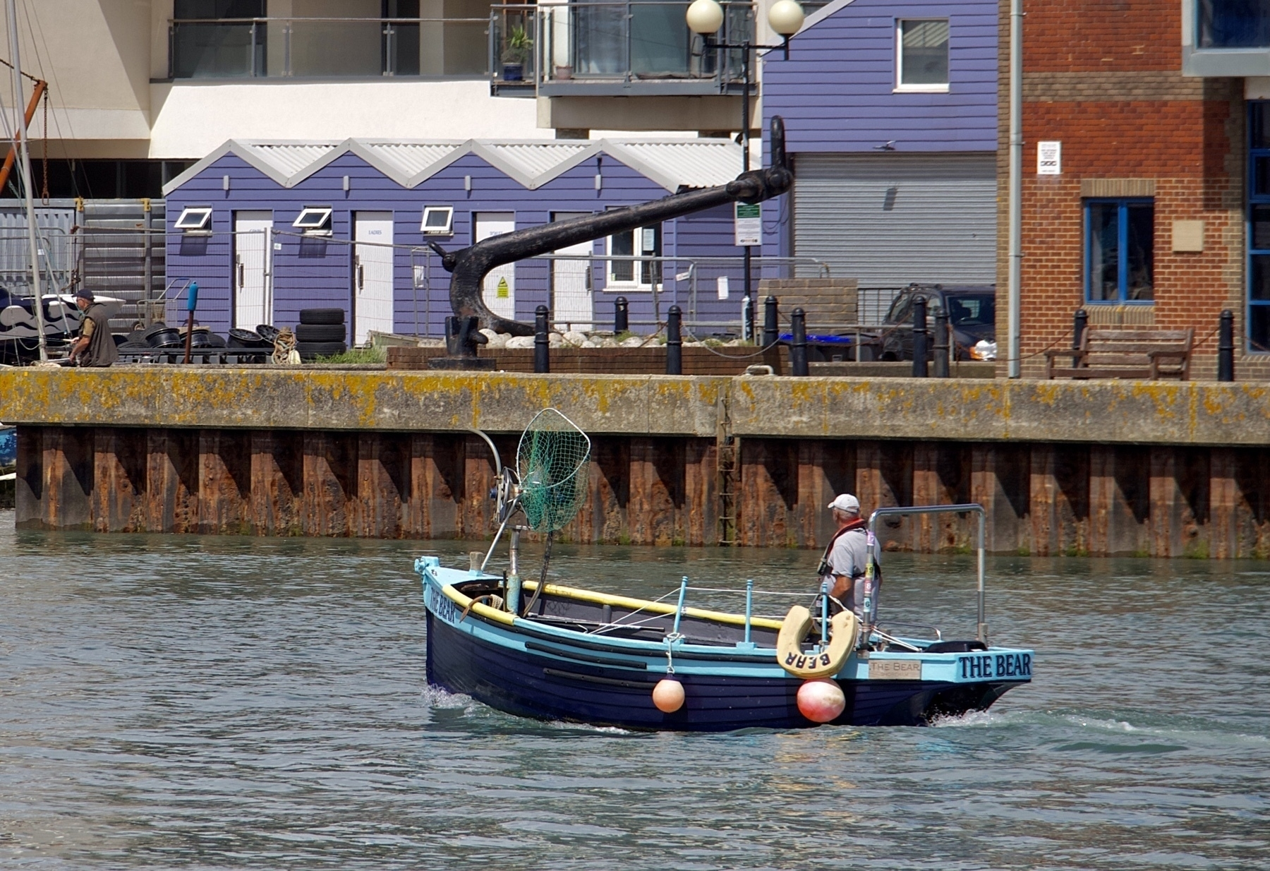 A small fishing boat called The Bear in The Adur.